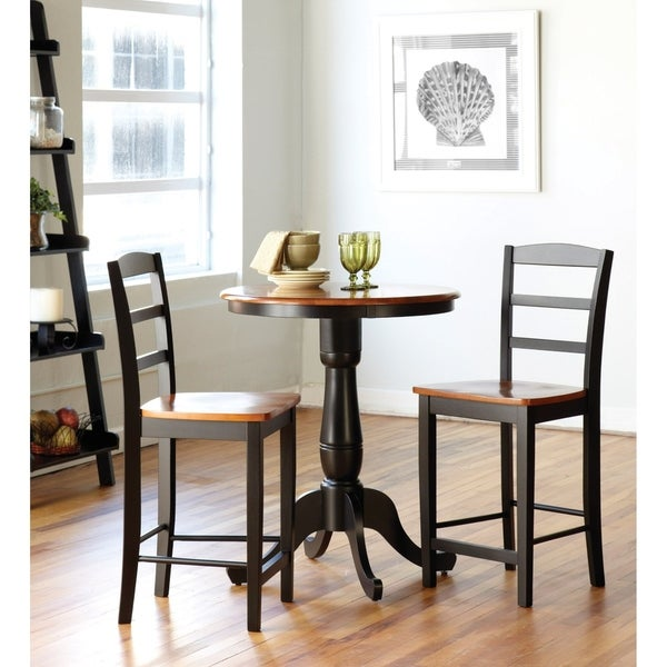 3 Piece Dining Set Bar Stools Pub Table Breakfast Chairs: Shop Madrid Counter Stool 3-piece Dining Set