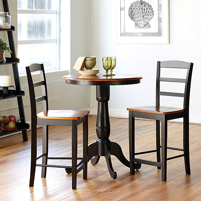 Bar Stool Dining Set: Madrid Counter Stool 3-piece Dining Set