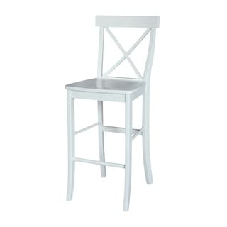 X-back White Bar Stool