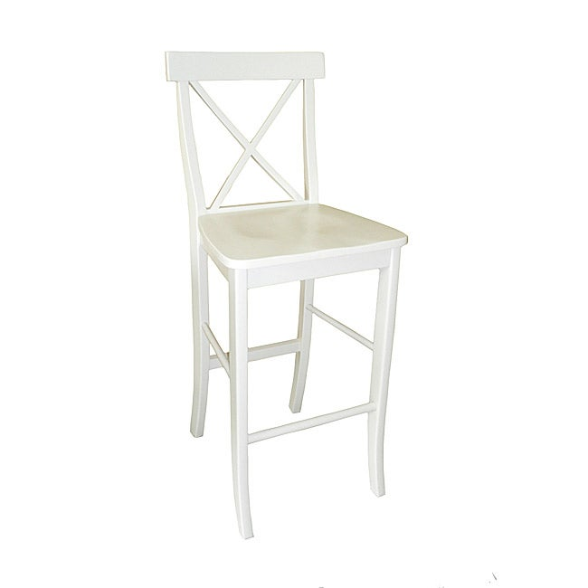 X back White Bar Stool Free Shipping Today Overstock  : X back White Bar Stool L13832564 from www.overstock.com size 650 x 650 jpeg 12kB