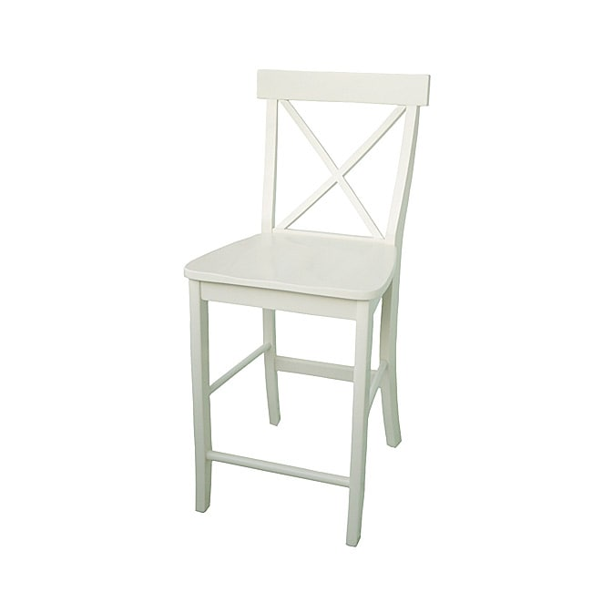 X Back Off White Counter Stool Free Shipping Today