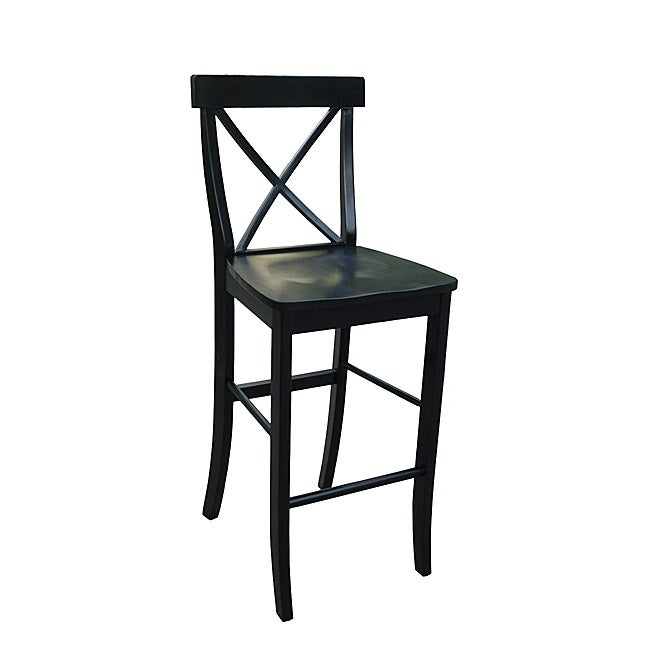 X Back Black Bar Stool Free Shipping Today Overstock