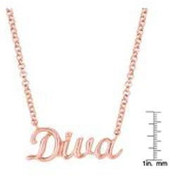 Pink Gold over Silver Expression 'Diva' Necklace