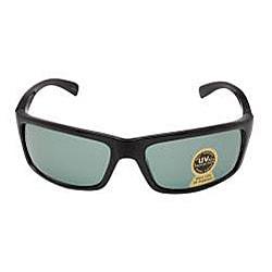 Unisex Onyx Black Plastic Fashion Sunglasses - Thumbnail 1