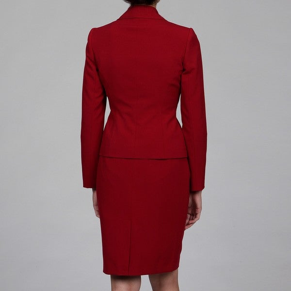 Calvin Klein Women's 2-piece Red Skirt Suit
