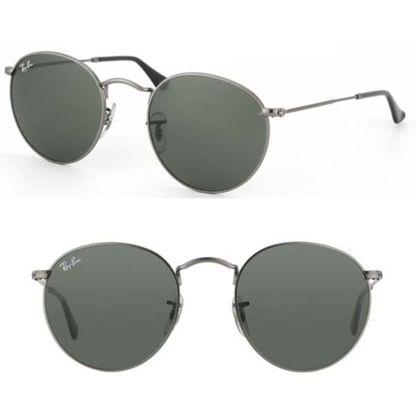 c6a125f3c7b Shop Ray-Ban Dark Grey Round Metal Sunglasses - Free Shipping Today ...