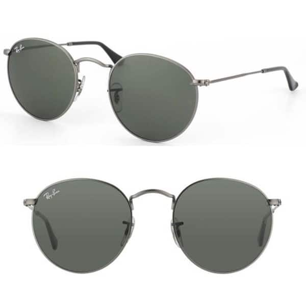 36b57dc5d Shop Ray-Ban Dark Grey Round Metal Sunglasses - Free Shipping Today ...