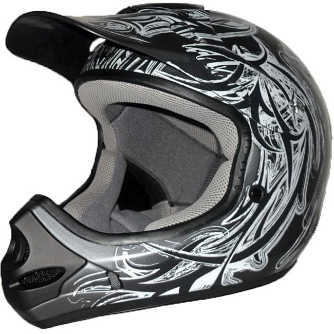Adult's Raider MX-3 Black/ Silver Thermosplastic Helmet