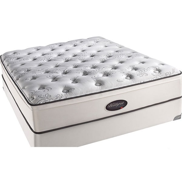Beautyrest Classic Reece Plush Firm Euro Top Twin-size Mattress Set