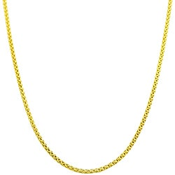 Fremada 14k Yellow Gold 18-inch Popcorn Chain