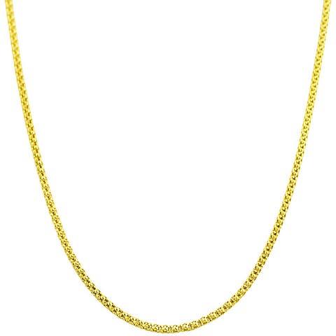 Fremada 14k Yellow Gold Popcorn Chain (16-inch)