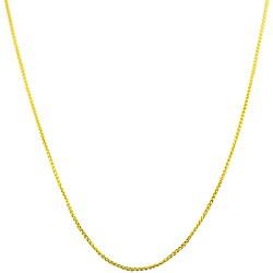 Fremada 14k Yellow Gold 16-inch Round Wheat Chain