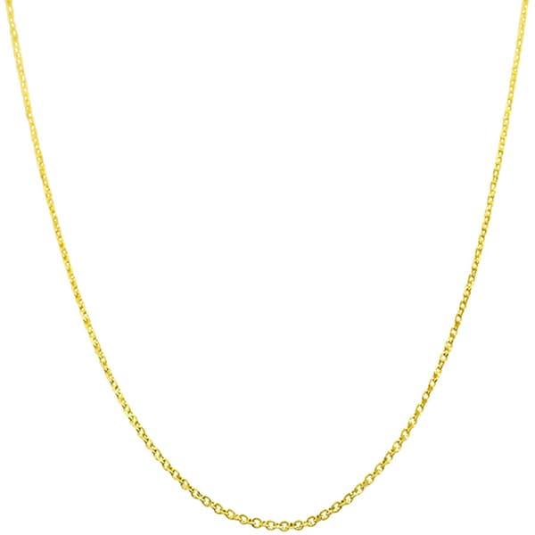 Fremada 14k Yellow Gold Diamond-cut Cable Chain (16- 24 inch)