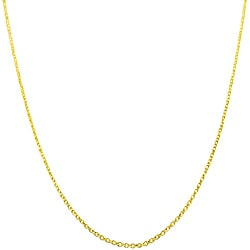 Fremada 14k Yellow Gold 18 Inch Diamond Cut Cable Chain