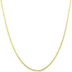 Fremada 14k Yellow Gold 18-inch Diamond-cut Cable Chain - Thumbnail 0