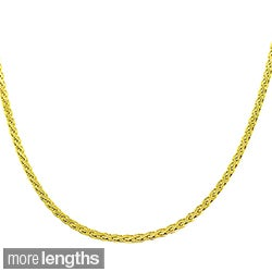 Fremada 14k Yellow Gold Flat Wheat Chain (16-18 inch)