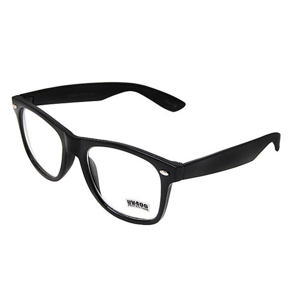 Unisex Onyx Black Fashion Glasses