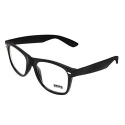 Unisex Onyx Black Fashion Glasses