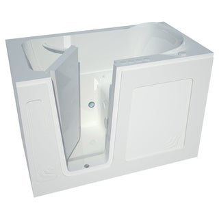 Shop Meditub 54 Inch Lefthand White Walk In Combo Tub