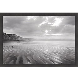 Marty Knapp 'Tidal Patterns, Drakes Beach' Framed Print Art