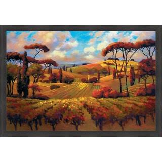"Teresa Saia ""Evening Vineyard"" Framed Print Art"