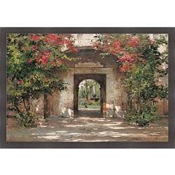 Cyrus Afsary 'Flowered Doorway' Framed Print Art