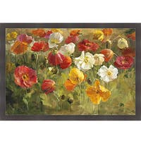 Danhui Nai 'Poppy Field' Framed Print Art