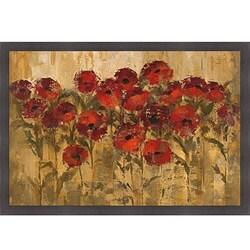 Silvia Vassileva 'Sunshine Florals' Framed Print Art - Cappuccino