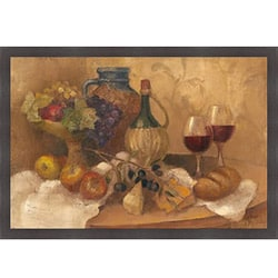 Albena Hristova 'Abundant Table with Pattern' Framed Print Art