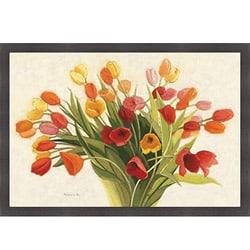 Shirley Novak 'Spring Tulips' Framed Print Art