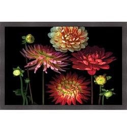 "Pip Bloomfield ""Dahlia Garden"" Framed Print Art"