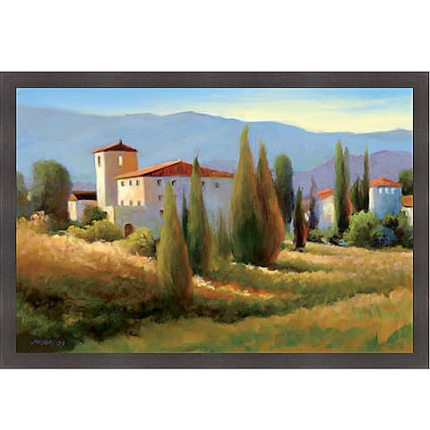 Carol Jessen 'Blue Shadows in Tuscany I' Framed Print Art - Green