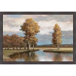 T.C. Chiu 'Winding River I' Framed Print Art