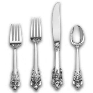 Wallace Grande Baroque Sterling Silver 4-pc Flatware Set