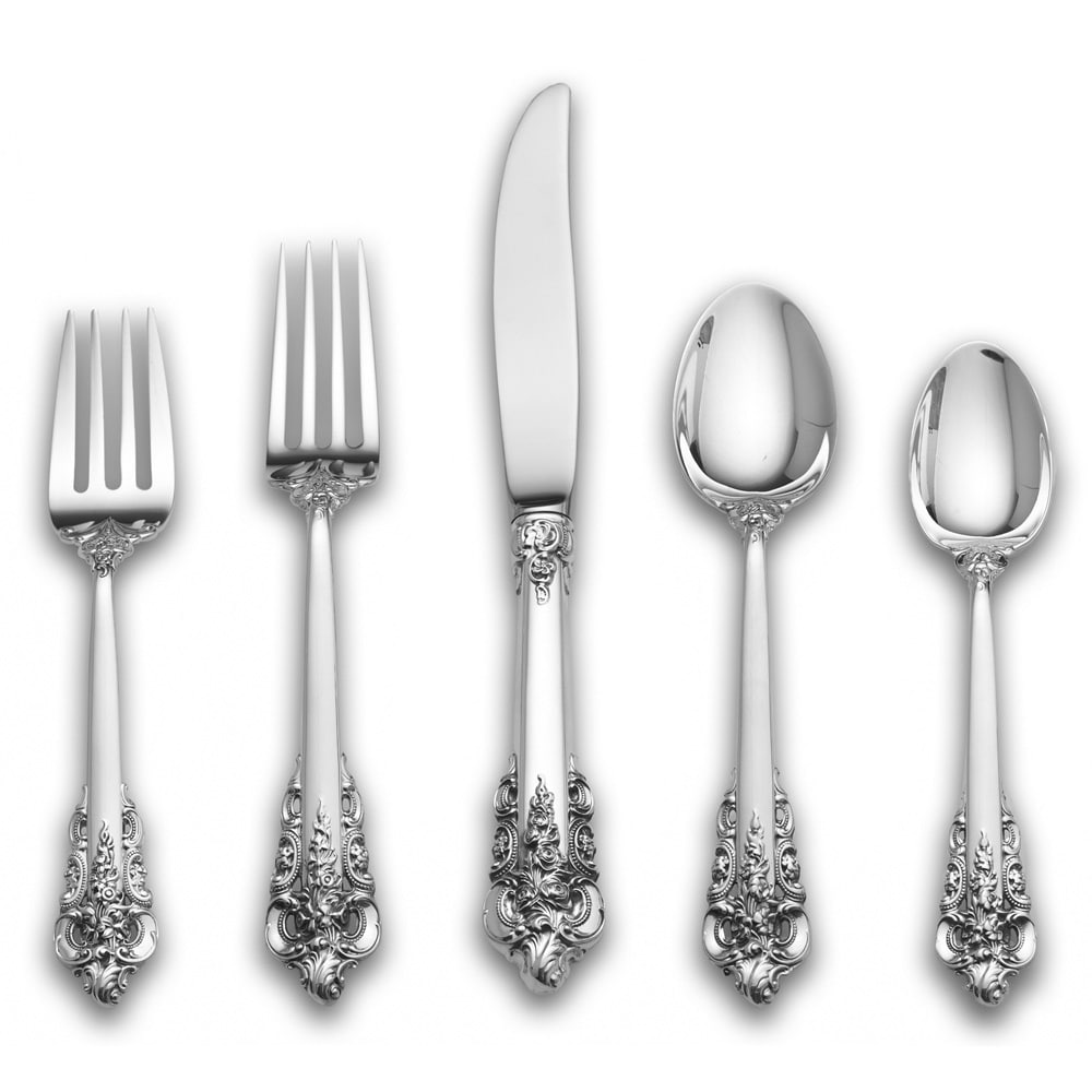 Wallace Grande Baroque Sterling Silver 5-pc Flatware Set ...