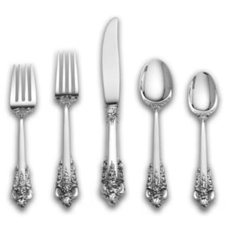 Wallace Grande Baroque Sterling Silver 5-pc Flatware Set  sc 1 st  Overstock.com & Sterling Silver Flatware For Less | Overstock