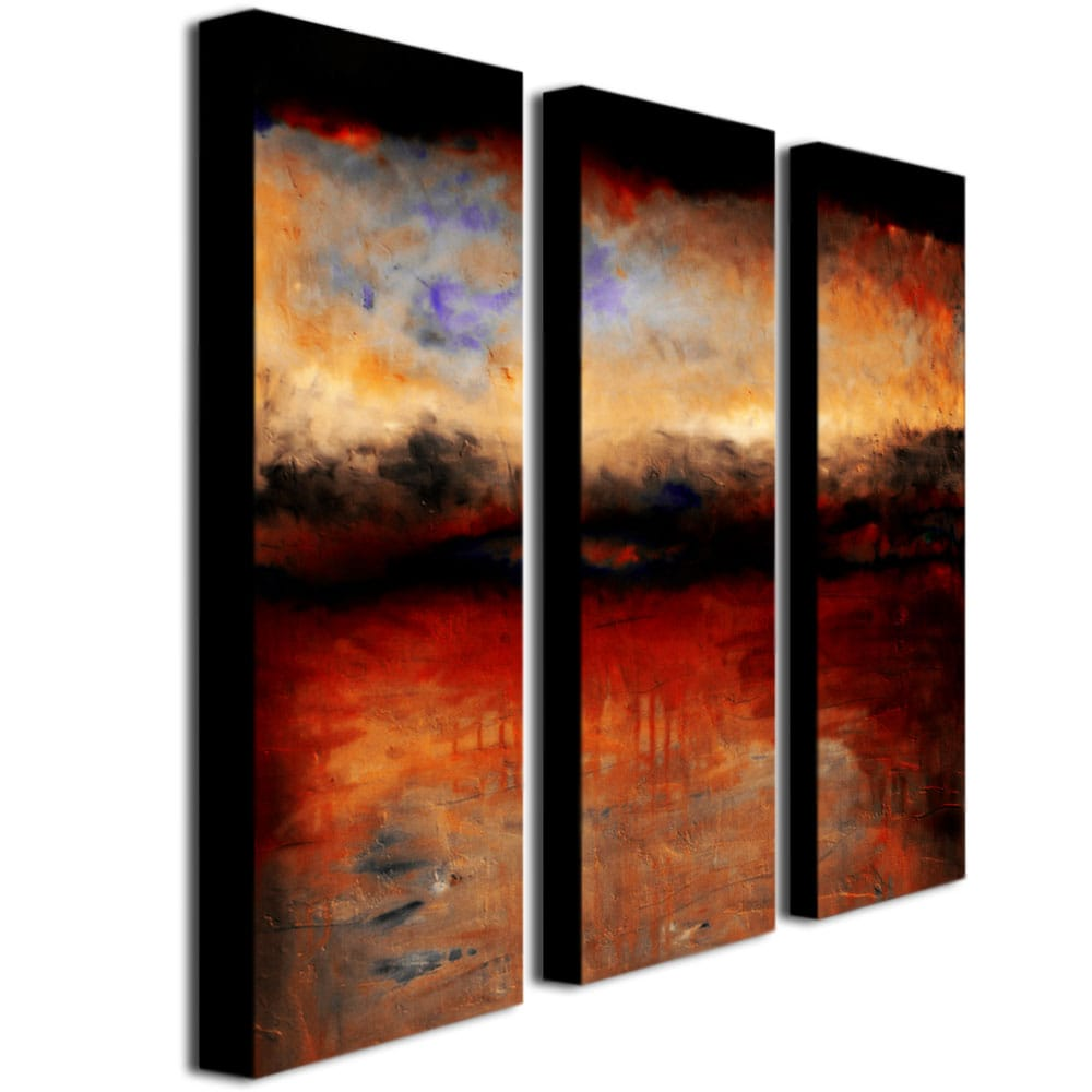 Shop Michelle Calkins Red Skies At Night Canvas Art Set