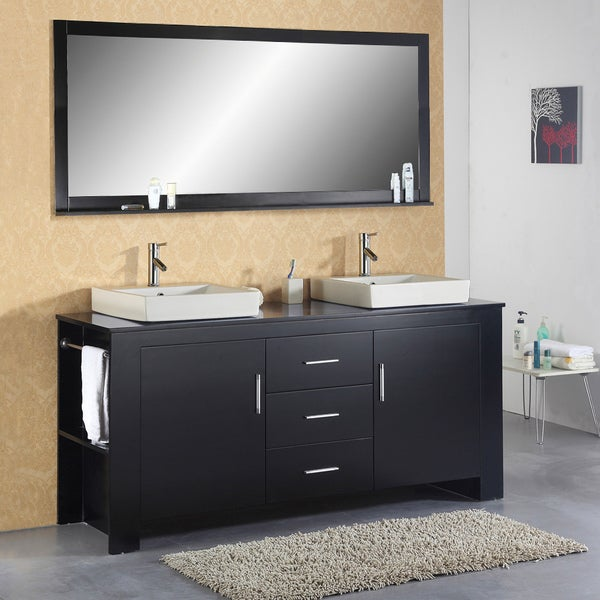 Jeffrey 72-inch Double-sink Bathroom Vanity Set