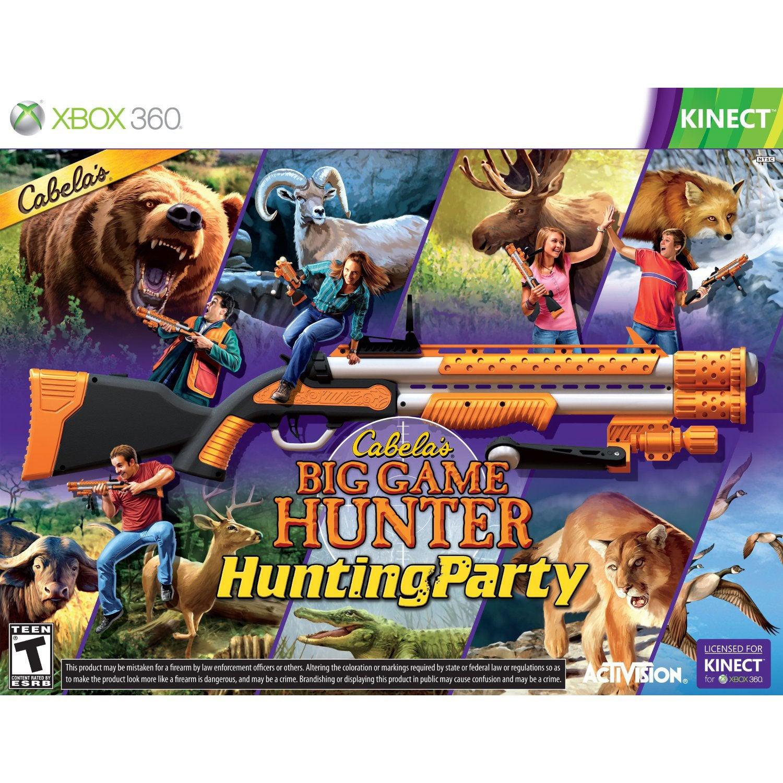 Xbox 360 - Cabelas Hunting Party w/gun