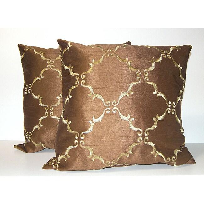 Solistice Diamond Chocolate Pillows (Set of 2)