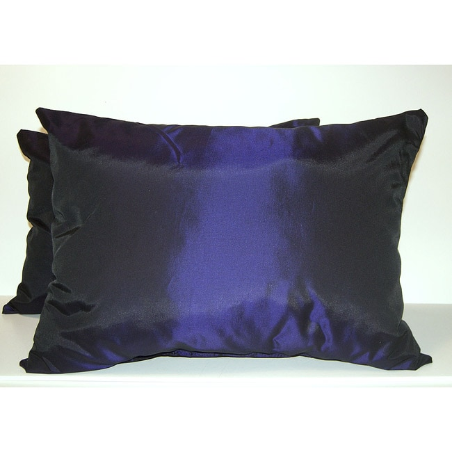 Purple Taffeta Decorative Pillows (Set of 2)