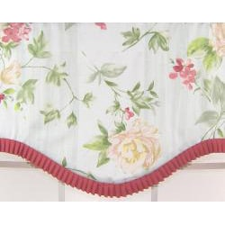 Floral Ruffled Cornice Valance