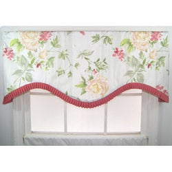 Floral Ruffled Cornice Valance