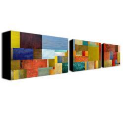 Michelle Calkins 'Pieces Project IV' Canvas Art Set