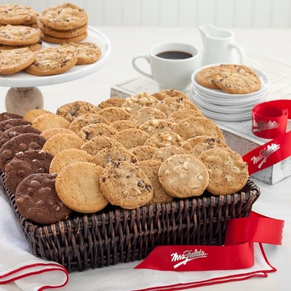 Mrs. Fields Cookie Basket (48 count). Opens flyout.