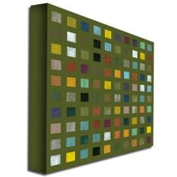 Michelle Callkins 'Rustic Wooden Abstract IX' Canvas Art