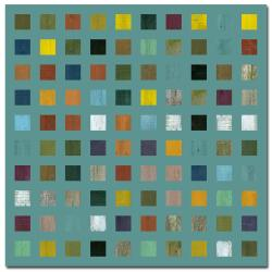 Michelle Callkins 'Rustic Wooden Abstract VI' Canvas Art - Teal - Thumbnail 0