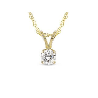 Miadora 14kt Gold 1/4-ct   Diamond Solitaire Pendant
