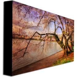 Lois Bryan 'At the Cherry Blossom Festival' Horizontal Canvas Art - Thumbnail 1