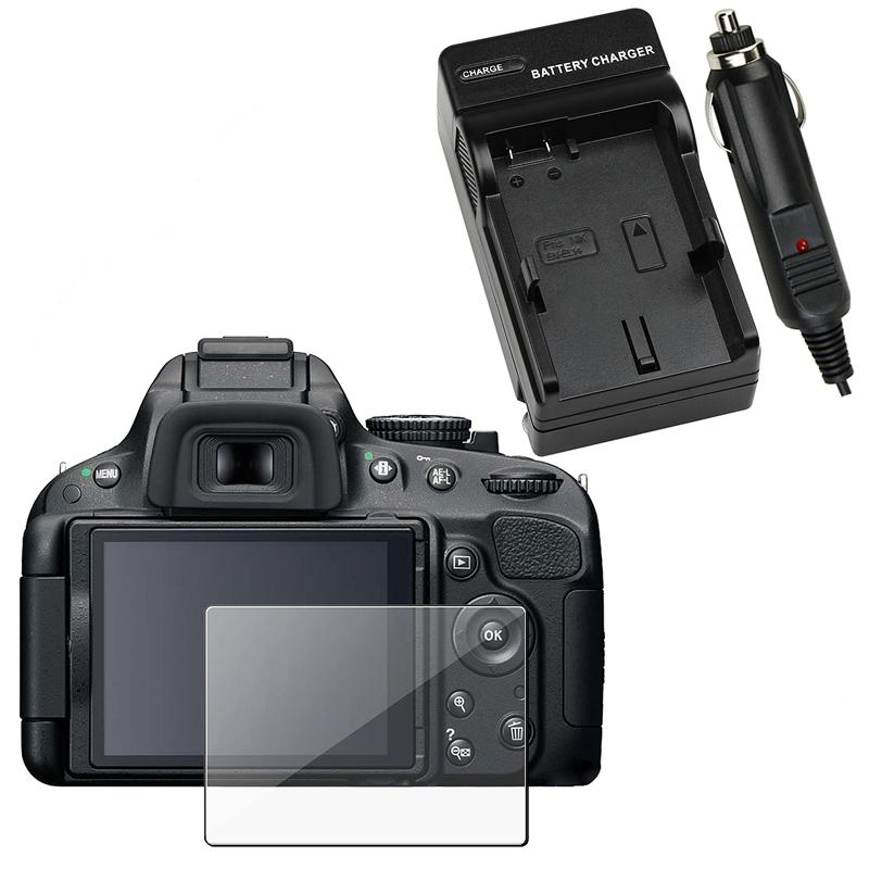 INSTEN Charger Set/ Screen Protector for Nikon D5100
